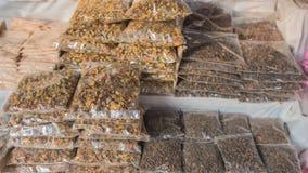 Especiarias indianas no mercado, sândalo, chá em Sri Lanka Fotos de Stock Royalty Free