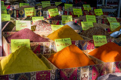 Especiarias no bazar turco Imagem de Stock Royalty Free