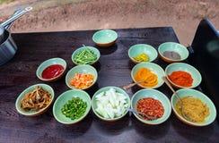 Especiarias que cozinham ingredientes Imagem de Stock