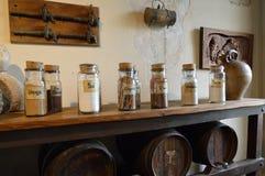 Especiarias sortidos em umas garrafas Fotos de Stock Royalty Free
