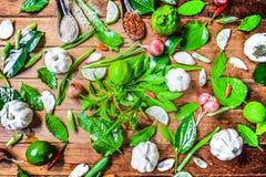 Especiarias Tailândia e vegetal cultivado em casa Foto de Stock