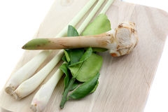 Especiarias tailandesas na madeira Imagem de Stock