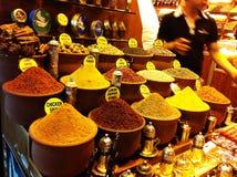 Especiarias turcas no bazar egípcio Foto de Stock Royalty Free