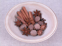 Especias aromáticas Imagen de archivo libre de regalías