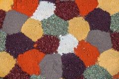 Especias coloridas fotos de archivo
