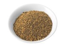 Especias de la mezcla seca (aisladas con el camino). Imagen de archivo libre de regalías