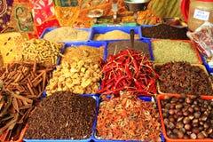 Especias del curry en Varkala imagen de archivo libre de regalías