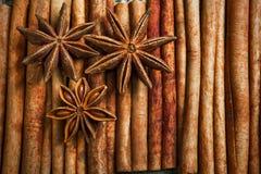 Especias e hierbas Ingredientes del alimento y de la cocina Palillos de canela, Fotografía de archivo libre de regalías
