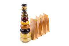 Especias e ingredientes de la hierba Imágenes de archivo libres de regalías
