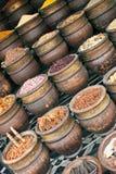 Especias en el mercado Foto de archivo libre de regalías