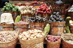 Especias en el mercado callejero del este Fotografía de archivo libre de regalías