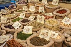 Especias en el mercado de Jerusalén Fotografía de archivo libre de regalías