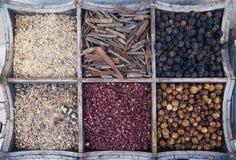Especias en la especia Souk de Deira Dubai, UAE Imagenes de archivo