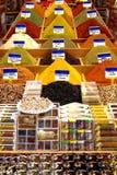 Especias orientales en el bazar Imagen de archivo libre de regalías