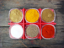 Especias para hacer la comida Imagen de archivo libre de regalías