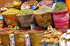Especias para la venta en Marrakesh Imágenes de archivo libres de regalías