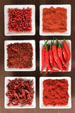 Especias rojas Foto de archivo