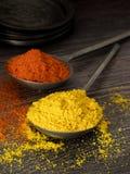 Especias rojas y amarillas mezcladas Fotografía de archivo