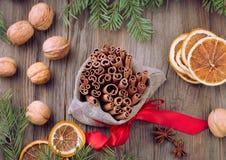 Especias tradicionales de la Navidad Foto de archivo libre de regalías