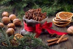 Especias tradicionales de la Navidad Fotos de archivo libres de regalías