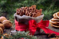 Especias tradicionales de la Navidad Fotografía de archivo