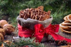 Especias tradicionales de la Navidad Imagenes de archivo