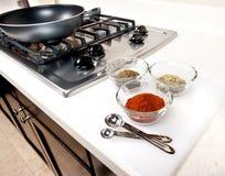 Especias usadas en cocinar Imagen de archivo libre de regalías