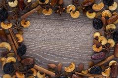 Especias y frutas secadas Fotografía de archivo