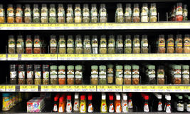 Especias y polvos del condimento Imagenes de archivo