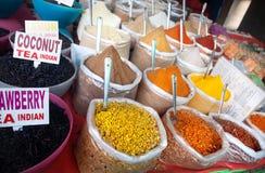 Especias y té indios Imágenes de archivo libres de regalías