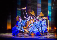 Espectáculo de Kabuki en las fuentes de Bellagio Fotografía de archivo