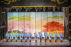 Espectáculo de Kabuki en las fuentes de Bellagio Fotos de archivo