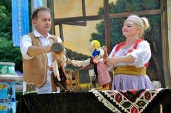 Espectáculo de marionetas servio Fotografía de archivo libre de regalías