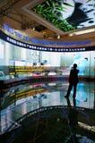 Espectador antes de la pared del LCD Fotos de archivo libres de regalías