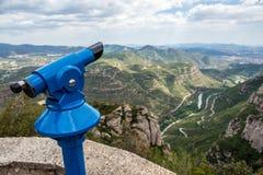 Espectador de la torre en Montserrat Fotografía de archivo