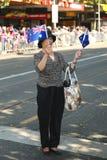Espectador durante desfile del día de Australia en Melbourne Foto de archivo libre de regalías
