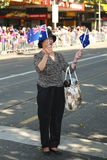 Espectador durante a parada do dia de Austrália em Melbourne Foto de Stock Royalty Free