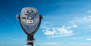 Espectador y cielo turísticos Fotografía de archivo