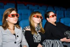 Espectadores del cine 3D Foto de archivo libre de regalías
