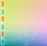 Espectadores en 3D el cine, tono del RGB Fotografía de archivo