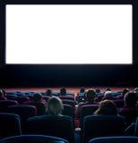 Espectadores en el cine Imagen de archivo