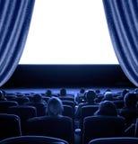 Espectadores en el cine Fotos de archivo