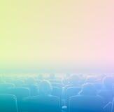 Espectadores en el cine, entonando Fotos de archivo