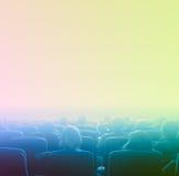 Espectadores en el cine, tono azul Fotografía de archivo