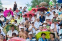 Espectadores en el estadio borroso Foto de archivo