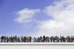 Espectadores en fútbol Foto de archivo libre de regalías