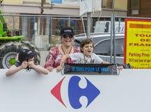 Espectadores - Tour de France 2014 Imagen de archivo libre de regalías