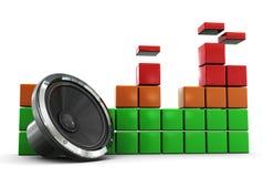 Espectro audio Fotos de Stock Royalty Free