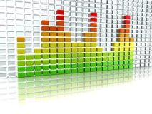 Espectro audio stock de ilustración