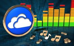 espectro audio del audio del espectro 3d Imagen de archivo libre de regalías